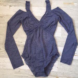 95a1f762ec aerie Tops | Long Sleeve Lace Bodysuit | Poshmark